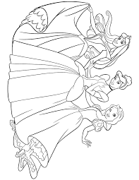 disney princess aurora cinderella snow white coloring