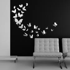 reflectable 3d mirror wall art butterflies motifs unique black white colors monochromed jpg black wall art charming ideas black and gold wall art projects