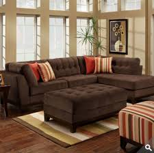 Brown Sectional Sofa With Chaise Sofa Beds Design Outstanding Modern Chenille Sectional Sofa With