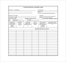 Free Ledger Template by Sle Rental Ledger Template 9 Free Documents In Pdf Excel