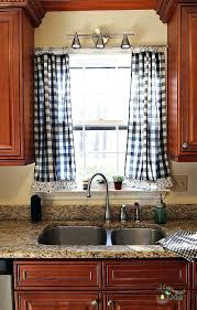 Checkered Kitchen Curtains Gingham Country Curtains Other Collections Of Country Plaid