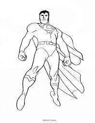 103 dessins de coloriage superman à imprimer