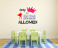 decals for home or car jadedecals only princesses and superheroes allowed toyroom decal boy and girl decal childrens decal