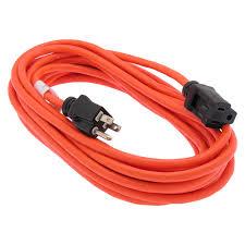 25ft orange outdoor power extension cord 13 amp ul csa
