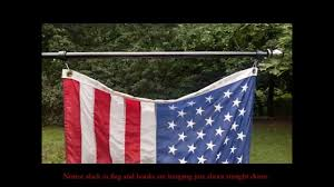 Hanging American Flag Vertically How To Properly Attach Flag To Rotating Mounting Rings Youtube