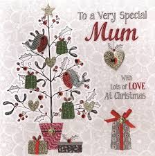 boxed very special mum special luxury handmade christmas card