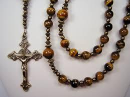 mens rosary xl catholic christmas gift gemstone 25 inch gen tiger