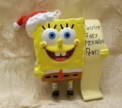 spongebob squarepants list ornament spongebob