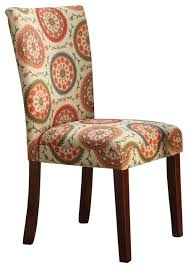 Suzani Fabric Chair Fabric Parsons Chair Eclectic Dining Chairs By Michael
