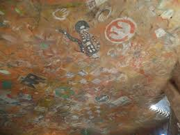 cooking conversation the grand canyon the walls and ceiling are covered in native american symbols and pictographs