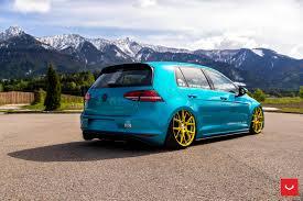 gti volkswagen 2000 volkswagen gti mk7 vfs 6 custom gold vossen wheels 2016