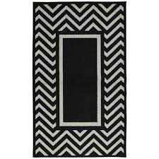 Black And White Chevron Rug Garland Rug Greek Key Black Silver 5 Ft X 7 Ft Area Rug