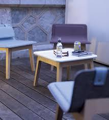 contemporary coffee table oak square for restaurants laia