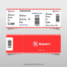 red and white boarding pass template vector premium download