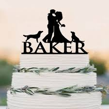 cake topper with dog and groom cake topper silhouette custom cake topper