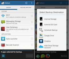 android helium how to backup android with helium