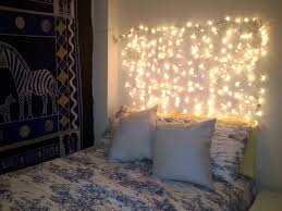 Cool Led Lights For Bedroom Lamps With Fairy String Light Headboard Cool Headboard Ideas
