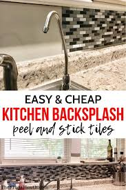 how to fit a kitchen cheaply diy peel and stick backsplash review steps diy