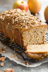 praline glazed apple bread recipe