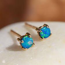 opal stud earrings yellow gold doublet opals earrings ebay