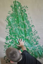 catchy collections of make a handprint christmas tree fabulous
