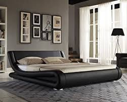 Luxury Designer Beds - double bed faux leather king size frame modern italian designer