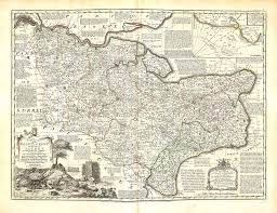 Kent England Map by England U0026 Wales Emanuel Bowen 1756 A 1 54 U2013 L Brown Collection