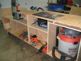 table saw workbench plans table saw stand bench woodworking talk woodworkers forum