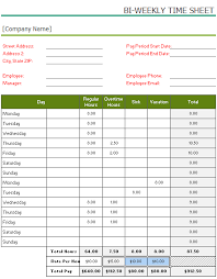 how to make a timesheet in excel free printable bi weekly timesheet template for excel