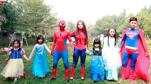frozen family halloween costumes superheroes family frozen elsa spiderman baby police arrest joker