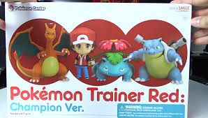 pokemon trainer red champion ver nendoroid unboxing hxchector com