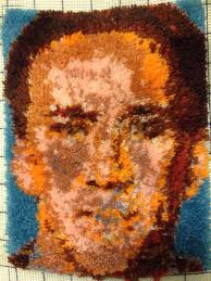 Latch Hook Rugs My Roommate U0027s Nicolas Cage Latch Hook Rug Pics