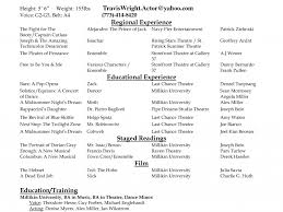 Theatre Resume Examples by Plush Design Acting Resume Examples 15 Enjoyable Ideas For Actors