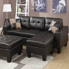 Sofa With Ottoman by Brown Sectional Sofas You U0027ll Love Wayfair