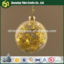 yangzhou produce clear glass ornaments buy