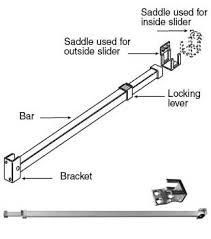 Security Lock For Sliding Patio Doors Wgsonline Sliding Patio Door Adjustable Security Bar Lock