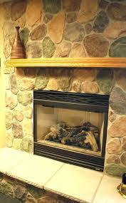 hillside granite stone veneer fireplace river rock installing