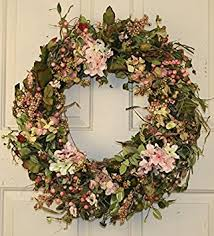 spring door wreaths amazon com hydrangea and berry spring door wreath 22 inch