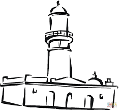 mosque in the town coloring page free printable coloring pages