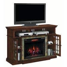 cherry brown electric fireplace tv stand rc willey furniture store