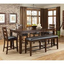 Bar Height Dining Room Table Sets Bar Height Dining Table Set With Bench Decorate High Room Sets