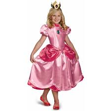 free halloween costumes super mario brothers deluxe princess peach girls u0027 child halloween