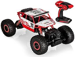 rc monster truck racing amazon com top race remote control monster truck rc rock crawler
