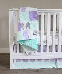 Mint Green Crib Bedding 11 Purple And Green Crib Bedding Baby Crib