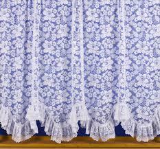 Austrian Shades Ready Made by Rome Austrian Flounced Priced Per Metre Net Curtain 2 Curtains