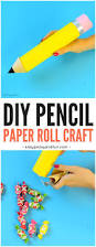 paper roll pencil back to craft or classroom decoration