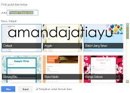 langkah membuat google form mudahnya membuat kuis online dengan google form oleh amanda jati ayu