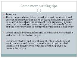 Awesome College Acceptance Letter Tips On Writing A Recommendation Letter For College Oshibori Info