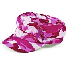 camouflage ribbon pink ribbon camouflage hat