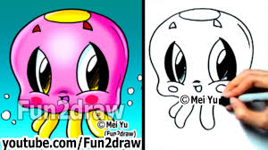how to draw easy cartoons how to draw a jelly fish cute art